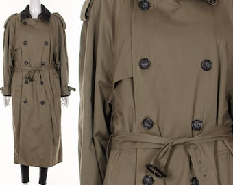 Minimalist Coat Khaki TRENCH Cot London Fog Trench Coat Edgy Jacket Double Breasted Coat Classic Iconic Coat Large Extra Large