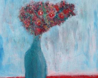 Flower Still Life Abstract | Origina Painting