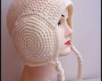 PATTERN - Crochet Leia Earmuffs Beanie - Free International Shipping