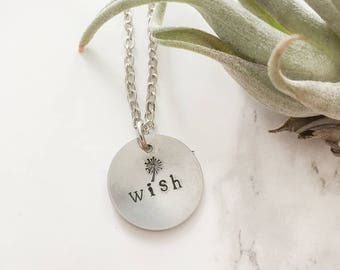Small token gift, Thank you present for teacher, Birthday necklaces for women, Make a wish, Dandelion Charm, Wish, gift for her, bridesmaid