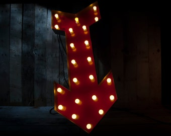 Fairground Arrow Light - Interior Light / Home Lighting / Fairground / Retro / Circus / 100cm Height - Dimmable