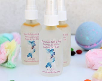 Mermaid, Fantasy, Magical,  Face Toner, Skin Care, Face Care, Mermaid Splash Face/Body Mist, Birthday, Gifts for Her, Easter, Christmas