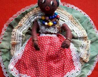Vintage Black Topsy Turvy Doll