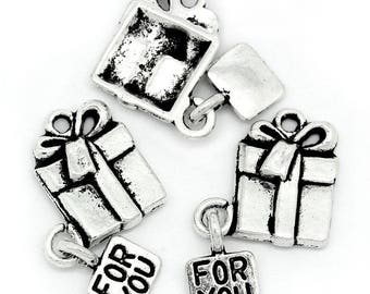 10 charms in antique silver gifts package