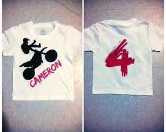 Dirtbike Racing Birthday Shirt