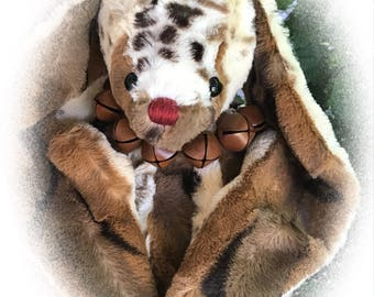 Faith, OOAK Artist Bunny, BearFolk & Friends, Lil Darlin Original, Teddy Bear, Original Pattern, Handmade, Teddy Bear