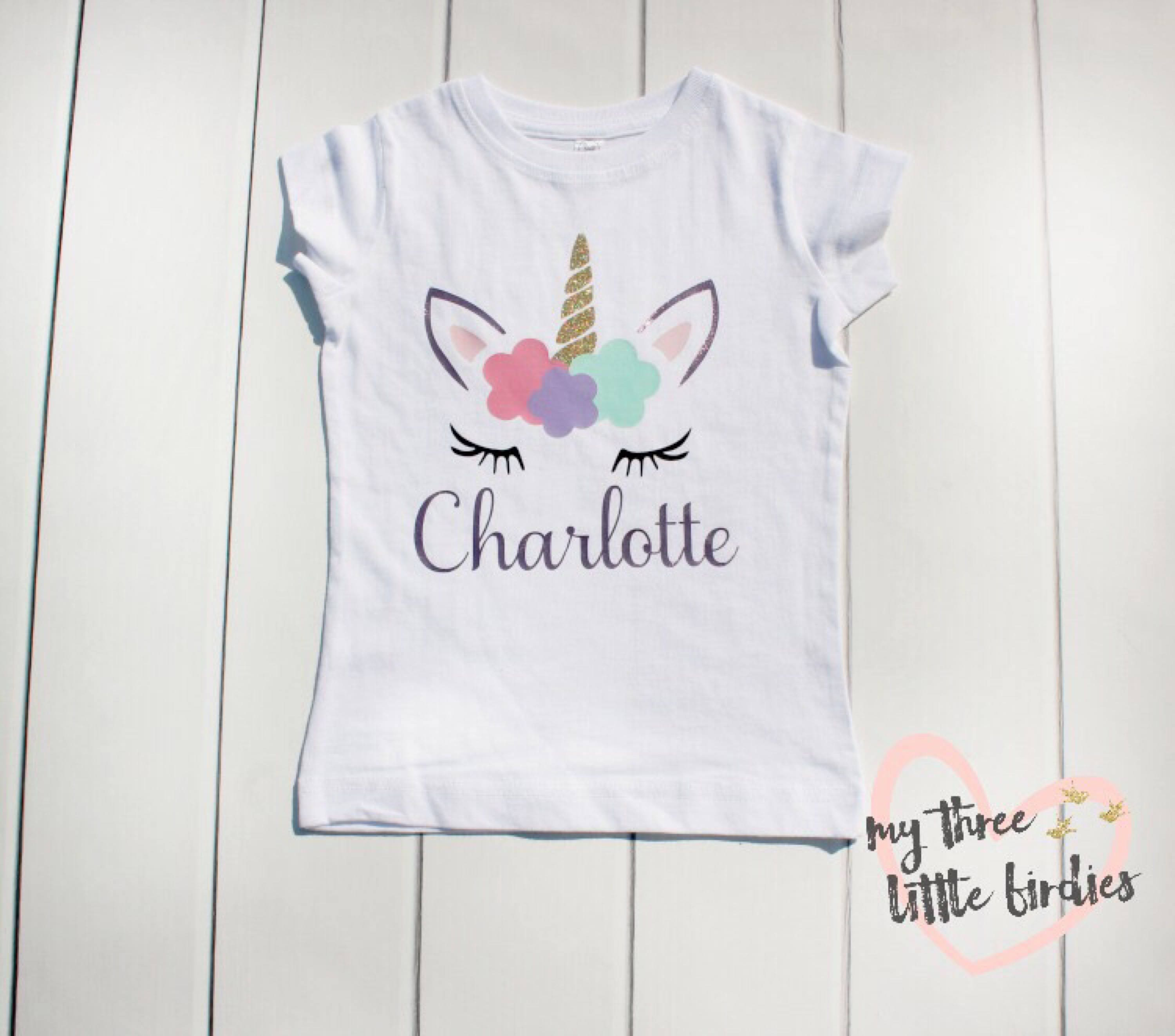 girl unicorn birthday shirt custom unicorn shirt birthday
