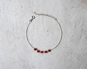 bracelet with bamboo coral