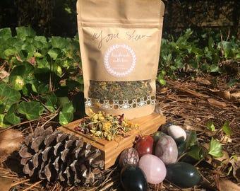 Yoni Steam - Vaginal Steam - V Steam - Bajos - Crystal Infused - Ritual Herbs - Yoni Sauna - Organic - Holistic - V Steam Herbs -