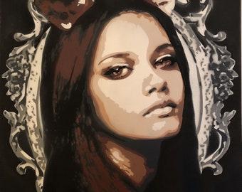Stencil Art Painting, Bambi Girl