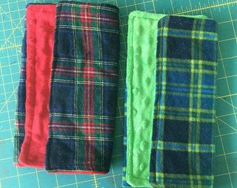 Plain flannel burp cloths