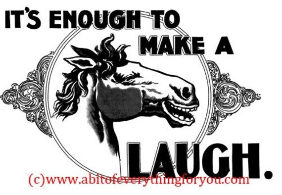 horse laughing vintage printable art print png clipart animals digital download image graphics country decor home decor