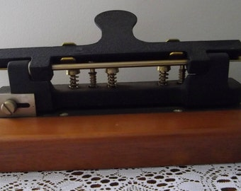 Vintage 4 or 6 Hole Paper Puncher, Stamped R I, Collectible