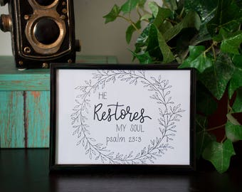 FRAME ONLY - for 5x7 Hand Lettering Art