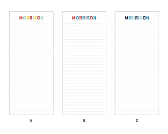 50 Sheet Custom/Personalized Notepad