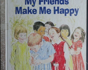 A Happy Day Book // Faith Based // My Friends Make Me Happy // 1979