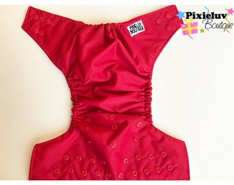 Red One Size Pocket Diaper (Cloth Diaper)