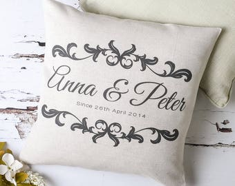 Personalised Couple Vintage Style Pillow Cover