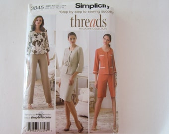 Simplicity 3845 Misses' Pants or City Shorts, Skirt and Lined Jacket Uncut Sewing Pattern Size 8, 10, 12,14, 16