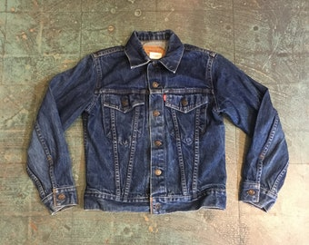 Vintage 80s 90s LEVIS red label denim jacket // youth size 14 women's XS