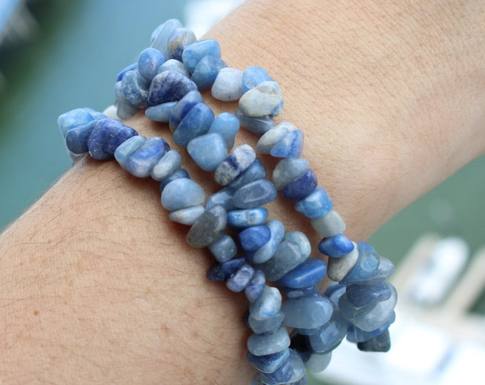 Blue Calcite Stretch Bracelet perfect for balancing the your Chakras
