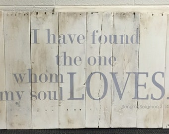 Song of Solomon Pallet Sign