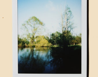 On the Pond - Instant Film Fine Art Photo