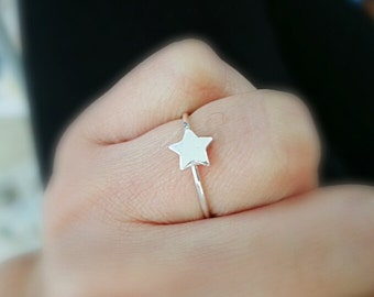 silver star ring size us 7