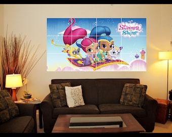 Shimmer and Shine Poster - Large Mosaic Tile Effect Wall Art Poster