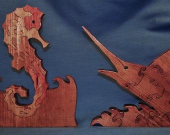 Seahorse & Sailfish Puzzle Set