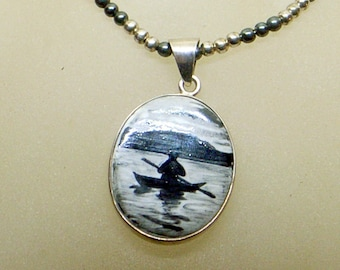 NE FROM Necklace,Viking,Man Gift,Neils Eric From,Early From Necklace,Rare From Necklace,Heavy Sterling Chain,Signed