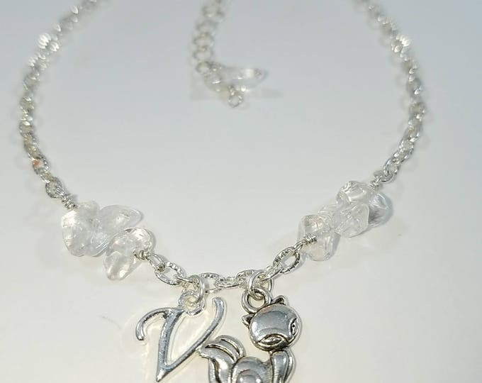 Featured listing image: Vixen Hotwife Anklet, Initial Jewelry, Quartz Crystals Personalized Jewelry, Sexy Anklets, Swinger Jewelry, Kinky