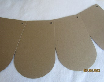 DIY Arched Banner Kit -Chipboard Banner Blanks -  Banner Shapes for Decorating-Unfinished Banners for Parties
