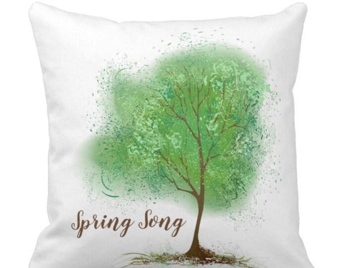 Throw Pillow Spring Tree