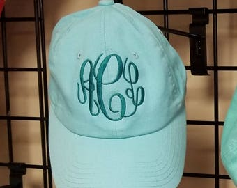 Mint Hat-Monogrammed Hat-Monogrammed Ball Cap-Baseball Hat-Baseball Cap-Group Discount-Bridesmaid Gifts-MONOGRAMMING & SHIPPING INCLUDED