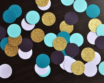 """Mermaid Colors Table Confetti 1"""". 50CT. Handcrafted in 2-5 Business Days. Under the Sea Party Decor."""
