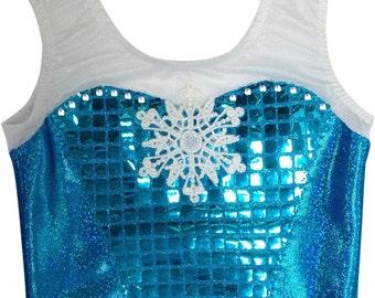 Frozen Leotard -  Sleeveless - Queen Elsa of Arendelle. New Design, with Swarvoski Gems