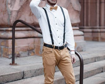 Leather braces men,Wedding leather suspenders mens,Gift Leather men suspenders,Leather Mens Harness suspenders,Leather adult suspender