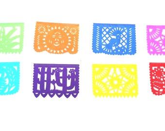 papel picado, mexican banner, rectangle bunting, mexican party decor MEDIUM