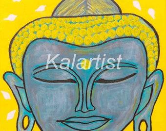 Digital Print, Buddha Painting, Acrylics