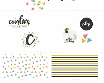 Logo and Brand Suite - Premade Logo, Instagram Template, Pattern - Criativa