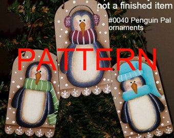 Christmas painting pattern,  penguin pals pattern, painting epattern, Christmas ornament pattern, tole painting, decorative painting