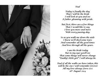 Poem for the father of the bride