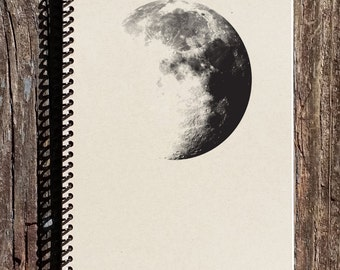 Moon Notebook - Moon Journal - Outer Space - Dark Side of the Moon