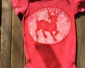 Reindeer Onesie, Shower gift, baby bodysuit, Christmas gift for baby, batik