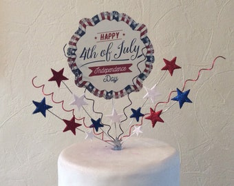 4th of july. Independence Day cake topper , centre piece 3 different designs to choose from