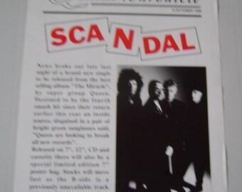 Queen Scandal 1989 Rare Uk Poster