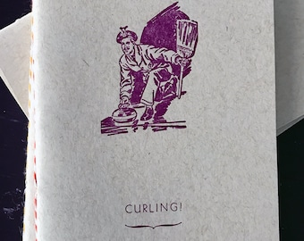 CURLING! Letterpress Notebook