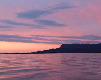 Lilac Sunset at Ballykelly Sea Wall