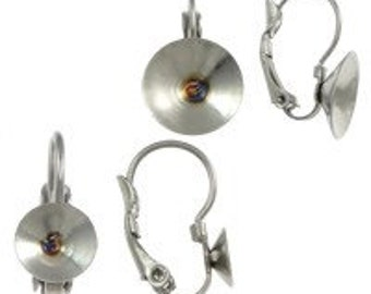 Stainless Steel French Clip with 12mm Rivoli Cup (B47-2)